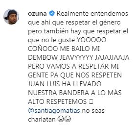 lo que dijo ozuna